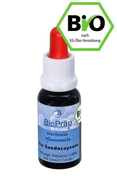 Bio Sandocayenne mit Sanddornfruchtfleischoel- 20ml