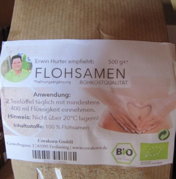 Flohsamen 500 g Beutel biologisch
