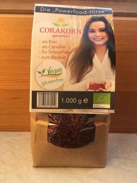 Corakorn biologisch ungemahlen - ganze Körner - 1 kg