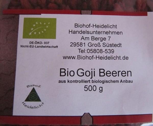 Goji Beere - getrocknet 500 g biologisch