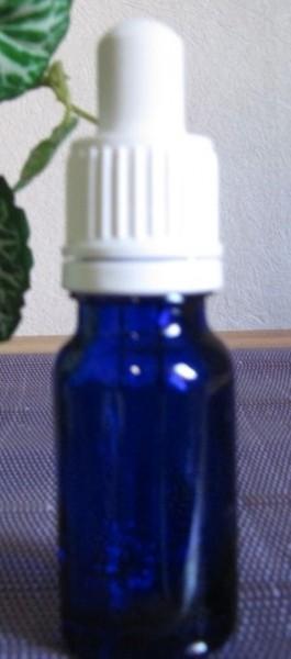 Blauglasflasche mit Pipette 10 ml