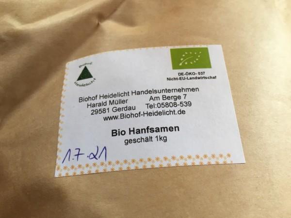 Hanfsamen biologisch geschält 1kg