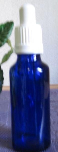 Blauglasflasche mit Pipette 30 ml