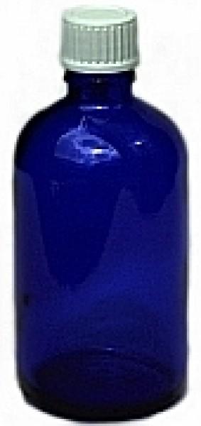 Blauglasflasche mit Tropfverschluss 100 ml