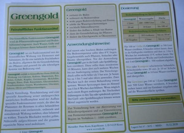 Greengold 1 Liter Flasche