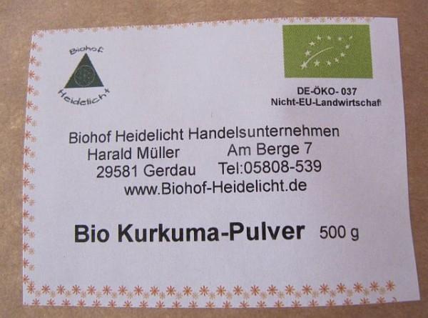 Kurkumapulver 500g Beutel, biologisch