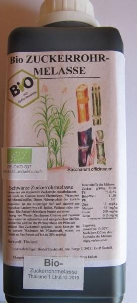 Zuckerrohrmelasse biologisch 1 Liter Flasche