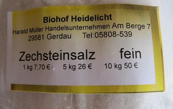 Zechsteinsalz, fein 1 kg Beutel