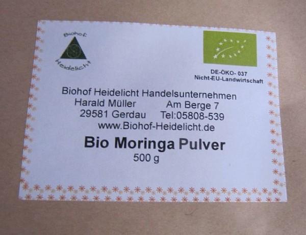 Bio Moringa Oleifera 500 g Blattpulver