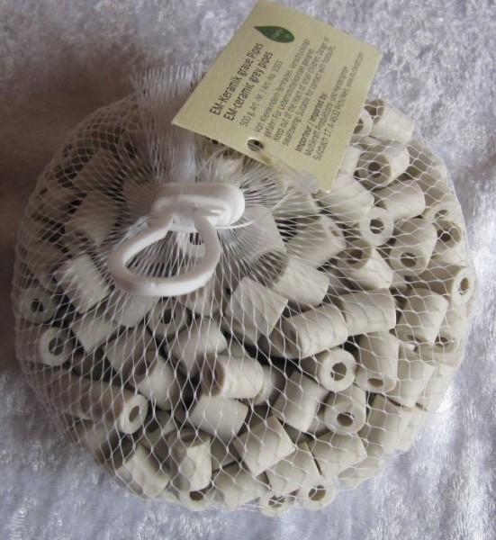 Effektive Mikroorganismen Keramik grau Roehrchen 500g