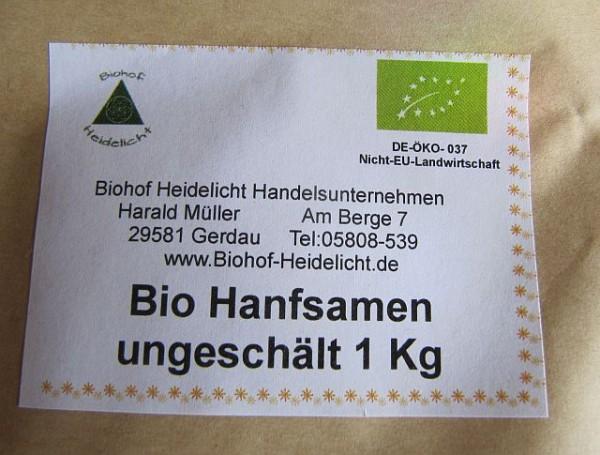 Hanfsamen biologisch ungeschält 1kg