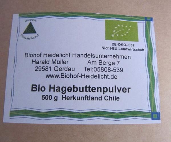 Hagebuttenpulver 500g beutel, biologisch