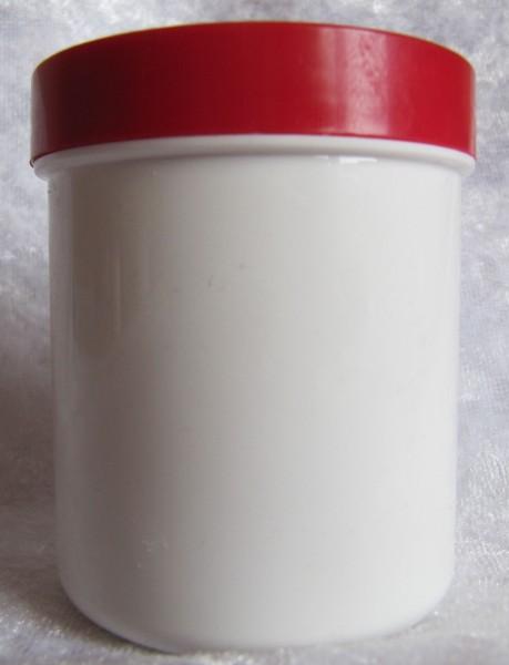 Leerdose weiß mit rotem Deckel 250 ml