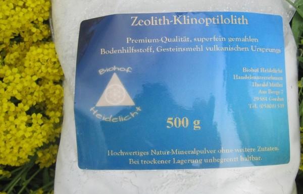 Zeolith feinst vermahlen 500 g Nachfüllbeutel