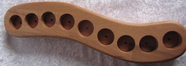 Holz Welle für Oola Massage 9 x 5 ml Flaschen