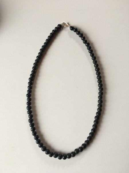 Schungitkette 6mm Perlen