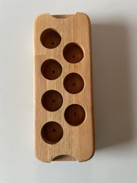 Holzbrett für 5 ml ätherische Öle 7 Plätze