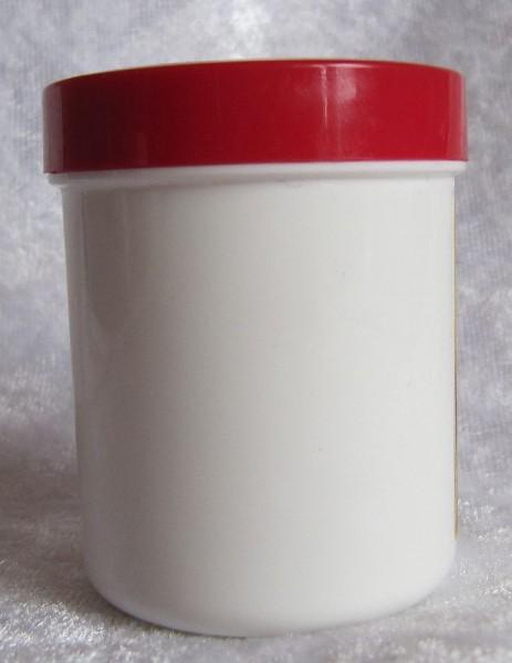 Leerdose weiß mit rotem Deckel 50 ml